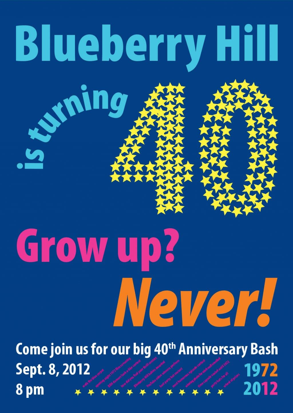 Blueberry Hill 40th Anniversary Poster