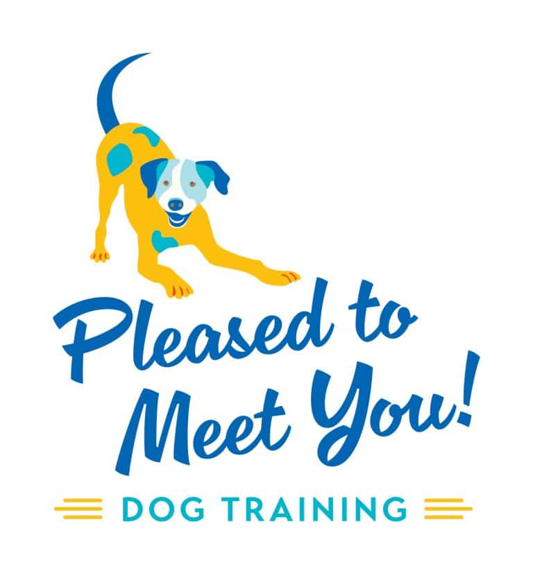 Pleased to Meet You Dog Training Logo